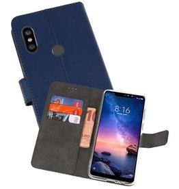 Wallet Cases Hoesje XiaoMi Redmi Note 6 Pro Navy