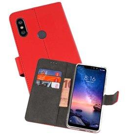Wallet Cases Hoesje XiaoMi Redmi Note 6 Pro Rood