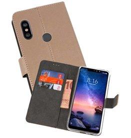 Wallet Cases Hoesje XiaoMi Redmi Note 6 Pro Goud