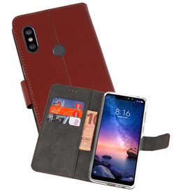Wallet Cases Hoesje XiaoMi Redmi Note 6 Pro Bruin