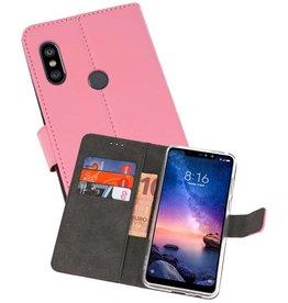Wallet Cases Hoesje XiaoMi Redmi Note 6 Pro Roze
