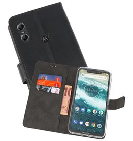 Wallet Cases Hoesje Moto One Zwart