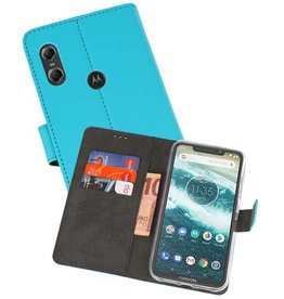 Wallet Cases Hoesje Moto One Blauw