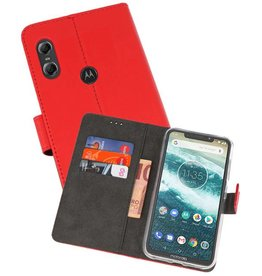 Wallet Cases Hoesje Moto One Rood