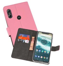 Wallet Cases Hoesje Moto One Roze
