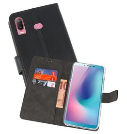 Wallet Cases Hoesje Samsung Galaxy A6s Zwart