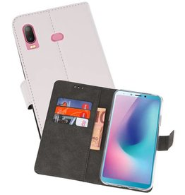 Wallet Cases Hoesje Samsung Galaxy A6s Wit