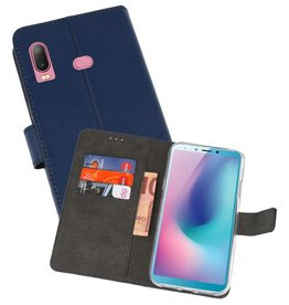Wallet Cases Hoesje Samsung Galaxy A6s Navy