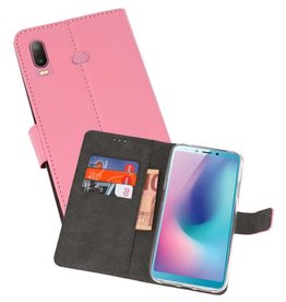 Wallet Cases Hoesje Samsung Galaxy A6s Roze