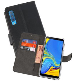 Wallet Cases Hoesje Galaxy A7 (2018) Zwart