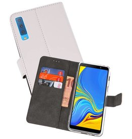 Wallet Cases Hoesje Galaxy A7 (2018) Wit