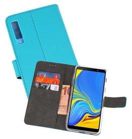 Wallet Cases Hoesje Galaxy A7 (2018) Blauw