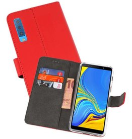 Wallet Cases Hoesje Galaxy A7 (2018) Rood