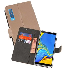 Wallet Cases Hoesje Galaxy A7 (2018) Goud
