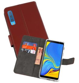 Wallet Cases Hoesje Galaxy A7 (2018) Bruin