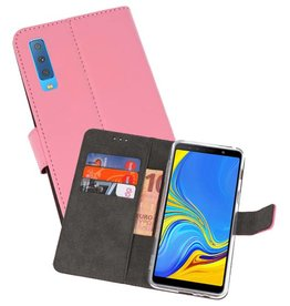 Wallet Cases Hoesje Galaxy A7 (2018) Roze
