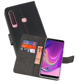 Wallet Cases Hoesje Samsung Galaxy A9 2018 Zwart