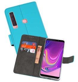 Wallet Cases Hoesje Samsung Galaxy A9 2018 Blauw
