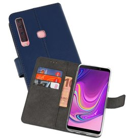 Wallet Cases Hoesje Samsung Galaxy A9 2018 Navy