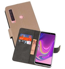 Wallet Cases Hoesje Samsung Galaxy A9 2018 Goud