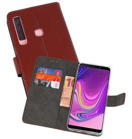 Wallet Cases Hoesje Samsung Galaxy A9 2018 Bruin