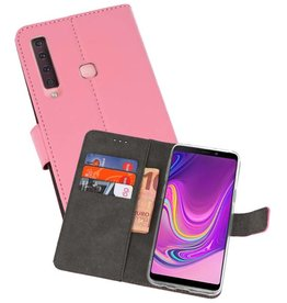 Wallet Cases Hoesje Samsung Galaxy A9 2018 Roze