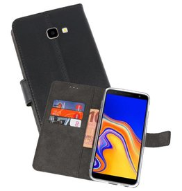 Wallet Cases Hoesje Galaxy J4 Plus Zwart