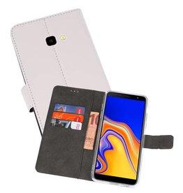 Wallet Cases Hoesje Samsung Galaxy J4 Plus Wit