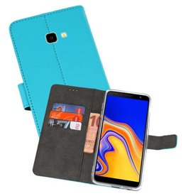 Wallet Cases Hoesje Galaxy J4 Plus Blauw