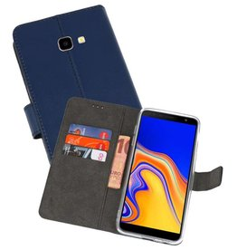 Wallet Cases Hoesje Galaxy J4 Plus Navy