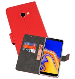 Wallet Cases Hoesje Galaxy J4 Plus Rood