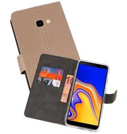 Wallet Cases Hoesje Samsung Galaxy J4 Plus Goud