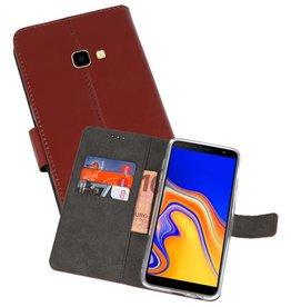 Wallet Cases Hoesje Samsung Galaxy J4 Plus Bruin