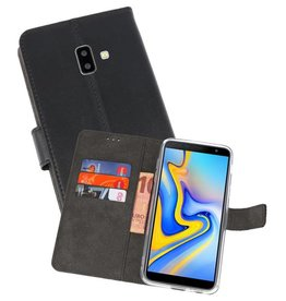 Wallet Cases Hoesje Galaxy J6 Plus Zwart