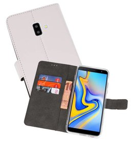 Wallet Cases Hoesje Galaxy J6 Plus Wit