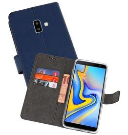 Wallet Cases Hoesje Samsung Galaxy J6 Plus Navy