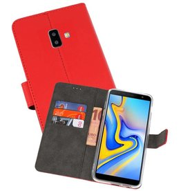 Wallet Cases Hoesje Galaxy J6 Plus Rood