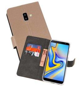 Wallet Cases Hoesje Samsung Galaxy J6 Plus Goud