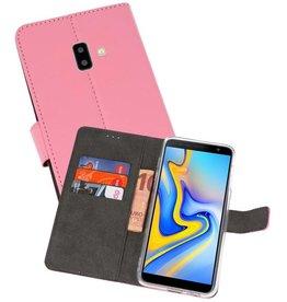 Wallet Cases Hoesje Samsung Galaxy J6 Plus Roze