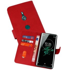 Bookstyle Wallet Cases Hoesje Xperia XZ3 Rood
