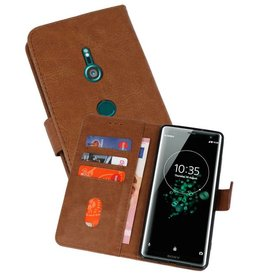 Bookstyle Wallet Cases Hoesje Xperia XZ3 Bruin