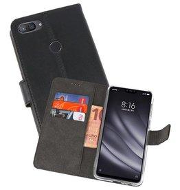 Wallet Cases Hoesje XiaoMi Mi 8 Lite Zwart