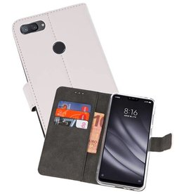 Wallet Cases Hoesje XiaoMi Mi 8 Lite Wit