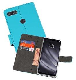 Wallet Cases Hoesje XiaoMi Mi 8 Lite Blauw