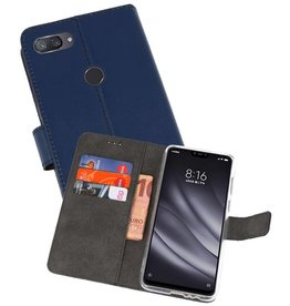 Wallet Cases Hoesje XiaoMi Mi 8 Lite Navy