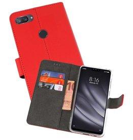 Wallet Cases Hoesje XiaoMi Mi 8 Lite Rood