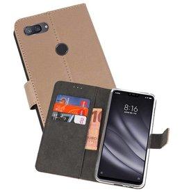 Wallet Cases Hoesje XiaoMi Mi 8 Lite Goud
