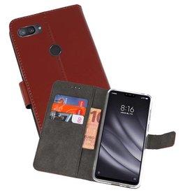 Wallet Cases Hoesje XiaoMi Mi 8 Lite Bruin
