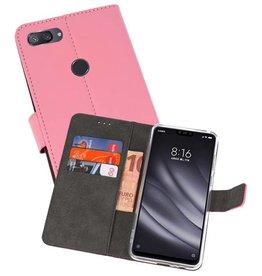 Wallet Cases Hoesje XiaoMi Mi 8 Lite Roze