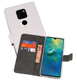 Wallet Cases Hoesje Huawei Mate 20 Wit